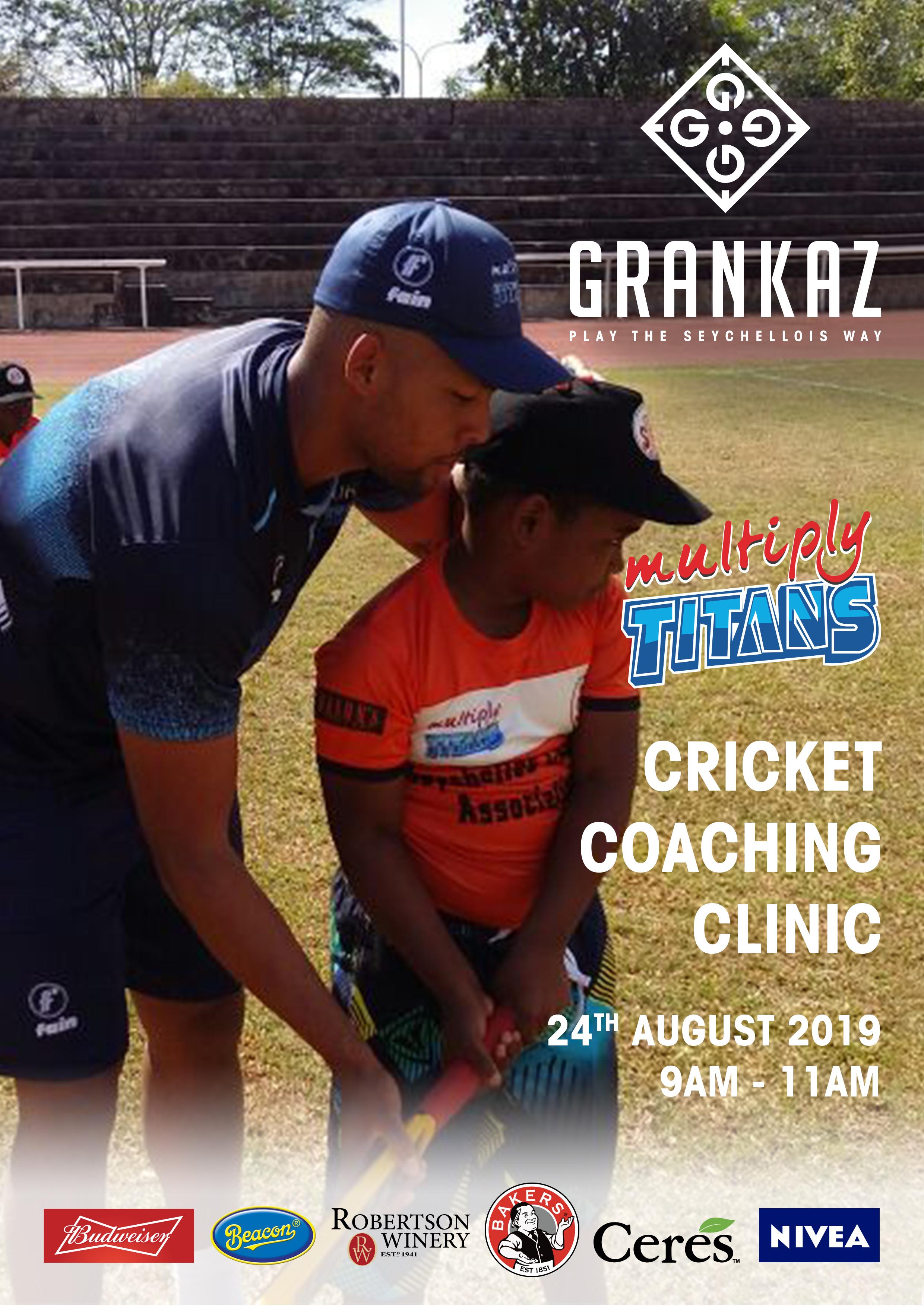 Children's Cricket Coaching Art Work